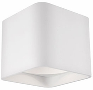 Kuzco FM10705-WH Modern White LED 5.125  Flush Ceiling Light Fixture