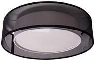 Kuzco FM11415-BK Covina Modern Black LED 15  Flush Mount Light Fixture