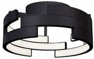 Kuzco FM12716-BK Contemporary Black LED 15.75  Flush Mount Light Fixture