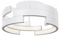 Kuzco FM12716-WH Contemporary White LED 15.75  Flush Ceiling Light Fixture