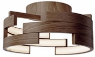 Kuzco FM12716-WT Modern Walnut LED 15.75  Flush Mount Ceiling Light Fixture