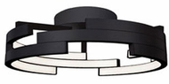 Kuzco FM12722-BK Contemporary Black LED 21.6  Home Ceiling Lighting
