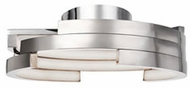 Kuzco FM12722-BN Modern Brushed Nickel LED 21.6  Overhead Light Fixture