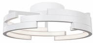 Kuzco FM12722-WH Contemporary White LED 21.6  Overhead Lighting Fixture