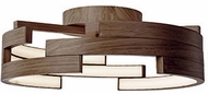 Kuzco FM12722-WT Modern Walnut LED 21.6  Ceiling Lighting