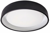 Kuzco FM13120-BK Beacon Modern Black LED 20  Flush Mount Light Fixture