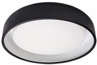 Kuzco FM13124-BK Beacon Modern Black LED 24  Flush Ceiling Light Fixture