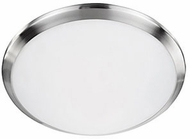 Kuzco FM1512-BN Malta Brushed Nickel LED 12  Flush Lighting