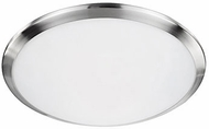 Kuzco FM1515-BN Malta Brushed Nickel LED 15  Flush Mount Light Fixture
