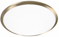 Kuzco FM1515-VB Malta Vintage Brass LED 15  Flush Ceiling Light Fixture