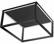 Kuzco FM34410-BK Plaza Modern Black LED Flush Mount Lighting Fixture