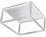 Kuzco FM34410-BN Plaza Contemporary Brushed Nickel LED Flush Ceiling Light Fixture