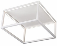 Kuzco FM34410-WH Plaza Modern White LED Flush Mount Ceiling Light Fixture