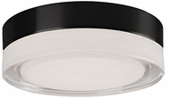 Kuzco FM3506-BK-CL Bedford Modern Black LED 6  Flush Mount Lighting
