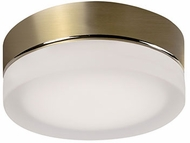 Kuzco FM3506-VB-FR Bedford Contemporary Vintage Brass LED 6  Flush Mount Lighting Fixture