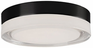 Kuzco FM3511-BK-CL Bedford Modern Black LED 11  Flush Ceiling Light Fixture