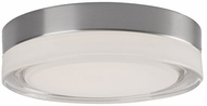 Kuzco FM3511-BN-CL Bedford Contemporary Brushed Nickel LED 11  Flush Mount Ceiling Light Fixture