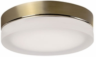 Kuzco FM3511-VB-FR Bedford Contemporary Vintage Brass LED 11  Overhead Light Fixture