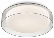 Kuzco FM48614 Aston Modern Clear LED 14  Ceiling Light Fixture