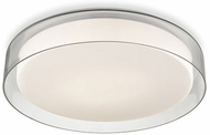 Kuzco FM48618 Aston Contemporary Clear LED 18  Flush Lighting