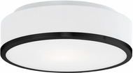 Kuzco FM6012-BK Charlie Modern Black LED Ceiling Light Fixture