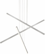 Kuzco MP10303-BN Vega Contemporary Brushed Nickel LED 45  Hanging Chandelier