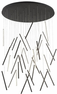 Kuzco MP14850-BK Chute Modern Black LED Multi Pendant Light