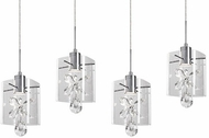 Kuzco MP2704-CH Butterfly Chrome LED Multi Drop Ceiling Lighting