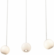 Kuzco MP47613-WH Europa Contemporary White LED Multi Pendant Light Fixture