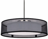 Kuzco PD11415-BK Covina Contemporary Black LED 15  Drum Drop Ceiling Lighting