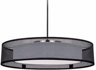 Kuzco PD11420-BK Covina Contemporary Black LED 20  Drum Ceiling Pendant Light