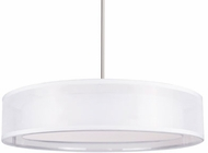 Kuzco PD11420-WH Covina Modern White LED 20  Drum Drop Ceiling Light Fixture