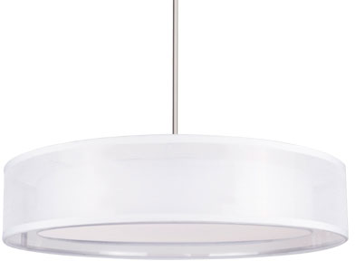 Kuzco Pd11420 Wh Covina Modern White Led 20 Drum Drop Ceiling Light Fixture