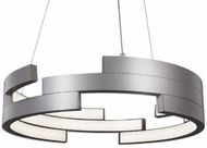 Kuzco PD12722-BN Anello Contemporary Brushed Nickel LED 22  Ceiling Pendant Light