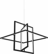 Kuzco PD16120-BK Mondrian Contemporary Black LED Hanging Light