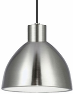Kuzco PD1712-BN Modern Brushed Nickel LED 12  Mini Hanging Pendant Light