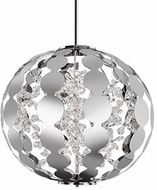Kuzco PD1825-CH Butterfly Chrome LED 25  Drop Ceiling Lighting