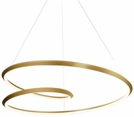 Kuzco PD22332-VB Ampersand Contemporary Vintage Brass LED 32  Lighting Pendant