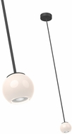 Kuzco PD47603-BK Europa Modern Black LED Mini Pendant Light Fixture