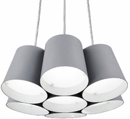 Kuzco PD5216-GY Contemporary Gray LED Mini Hanging Chandelier