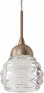 Kuzco PD54504-VB Nest Modern Vintage Brass LED Mini Drop Ceiling Light Fixture