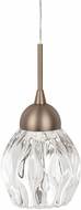 Kuzco PD56205-VB Tulip Contemporary Vintage Brass LED Mini Drop Lighting Fixture