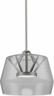 Kuzco PD61412-SM-BN Deco Contemporary Smoked / Brushed Nickel LED Mini Pendant Lamp