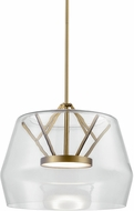 Kuzco PD61418-CL-VB Deco Modern Clear / Vintage Brass LED Hanging Lamp