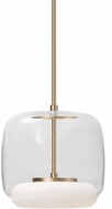 Kuzco PD70610-CL-VB Enkel Modern Clear / Vintage Brass LED Mini Pendant Light Fixture