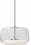 Kuzco PD70615-CL-VB Enkel Modern Clear / Vintage Brass LED Hanging Pendant Lighting