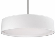 Kuzco PD7920-WH Brushed Nickel LED 20  Drum Drop Ceiling Lighting