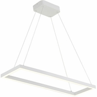 Kuzco PD85530-WH Piazza Contemporary White LED 30 Kitchen Island Lighting