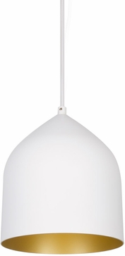 Kuzco PD9108-WH-GD Helena Modern White with Gold LED Mini Hanging Lamp