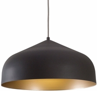 Kuzco PD9117-GH-GD Helena Modern Graphite with Gold LED Hanging Pendant Lighting